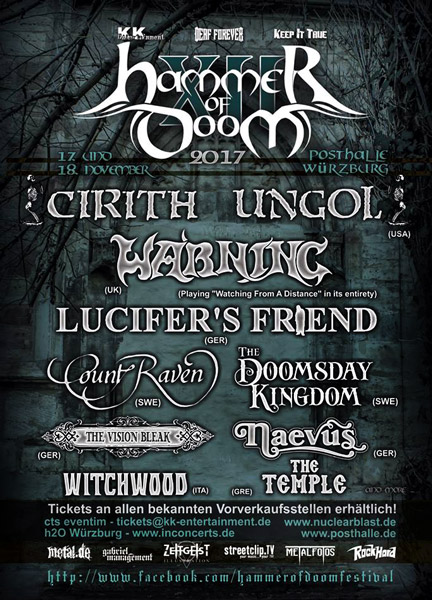 Flyer Hammer of Doom Festival XII