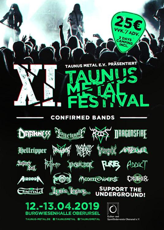 Flyer Taunus Metal Festival #11