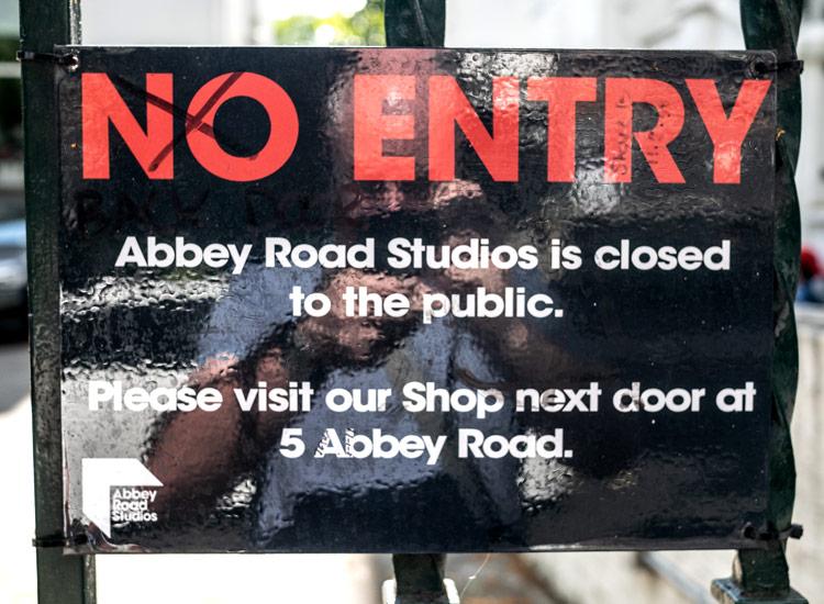 Abbey Road Studios - No Entry